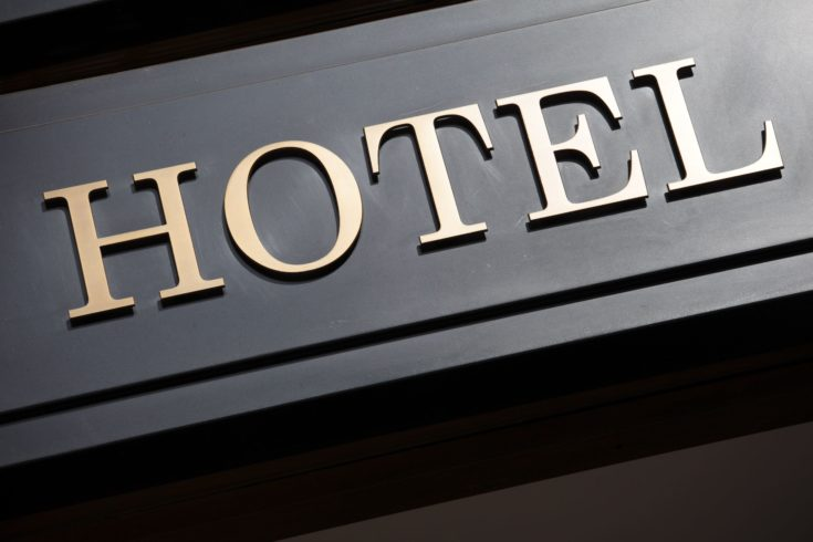 The word Hotel