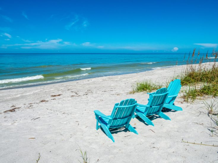 Beach Chairs in the Sand on Longboat Key